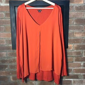 New Directions Curvy Long Sleeve Top 2X